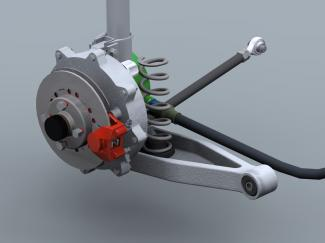 Lightweight in-wheel motor